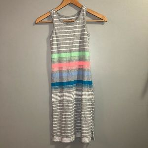 Old Navy Girls size 5 dress long striped w/ stain